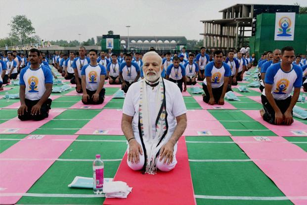 2nd International Yoga Day at Capitol Complex last year.