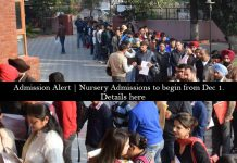 admission nursery chandigarh